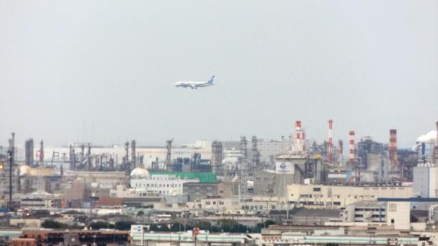 川崎市の海側の風景